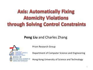 Peng  Liu  and Charles Zhang