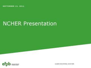 NCHER Presentation