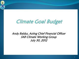 Climate Goal Budget