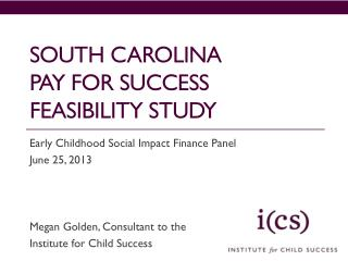South carolina Pay for success feasibility study