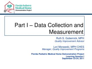 Part I � Data Collection and Measurement