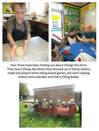 Year Three have been finding out about Vikings this term.