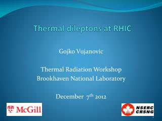 Thermal  dileptons  at RHIC