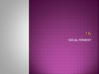 SOCIAL FERMENT