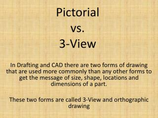 Pictorial vs. 3-View