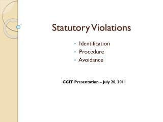 Statutory Violations