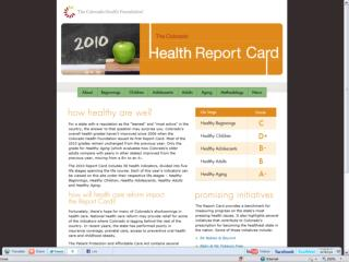 Findings from the 2010 Colorado Health Report Card