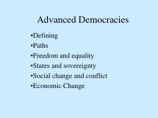 Advanced Democracies