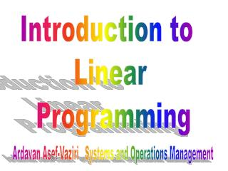 Ardavan Asef-Vaziri   Systems and Operations Management