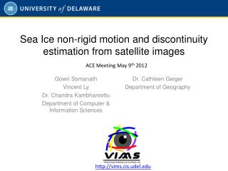 Sea Ice non-rigid motion and discontinuity estimation from satellite images