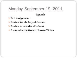 Monday, September 19, 2011