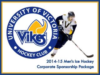 2014-15 Men's Ice Hockey  Corporate Sponsorship Package