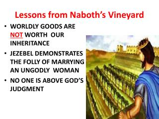 Lessons from  Naboth's  Vineyard