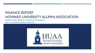 Finance report Howard university alumni association