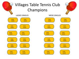 Villages Table Tennis Club Champions