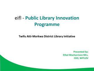 eifl  -  Public  Library Innovation Programme