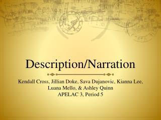 Description/Narration