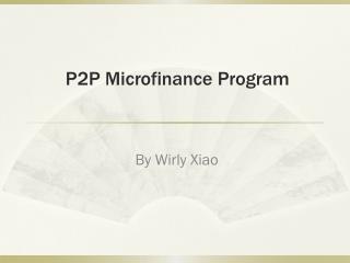 P2P Microfinance Program