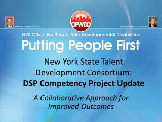 New York State Talent Development Consortium: DSP Competency Project Update