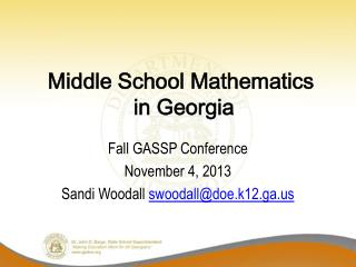 Middle School Mathematics  in Georgia