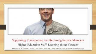 Supporting Transitioning and Returning Service Members
