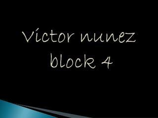 Victor  nunez  block 4