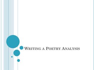Writing a Poetry Analysis