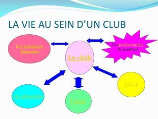 LA VIE AU SEIN D'UN CLUB