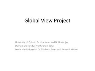 Global View Project