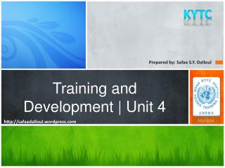 Training and Development | Unit 4