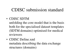 CDISC submission standard