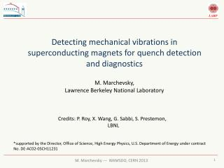 Detecting  mechanical vibrations in superconducting magnets for quench detection and diagnostics