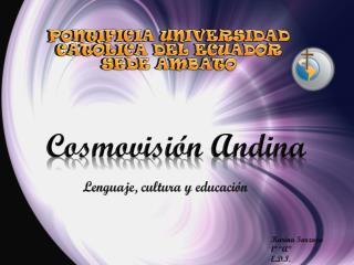 PONTIFICIA UNIVERSIDAD CATÒLICA DEL ECUADOR SEDE AMBATO