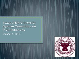 Texas A&M University System Committee on P-20 Initiatives