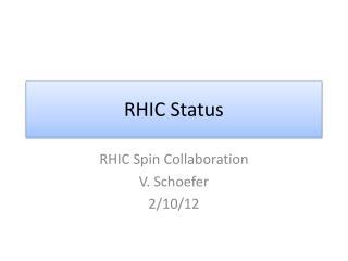 RHIC Status