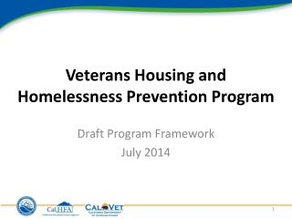 Veterans Housing and Homelessness Prevention Program