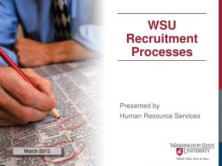 Presented by  Human Resource Services