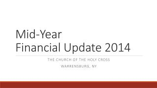 Mid-Year  Financial Update 2014