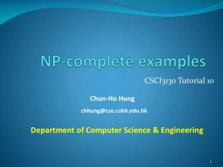 NP-complete  examples