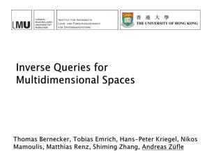 Inverse  Queries for Multidimensional  Spaces