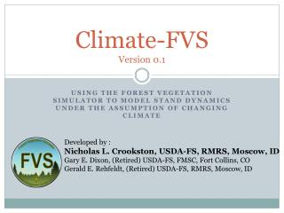Climate-FVS Version 0.1