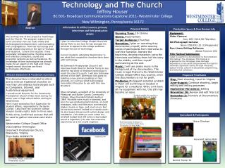 Technology and  T he Church