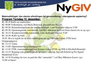 Ny GIV Overgangsprosjektet