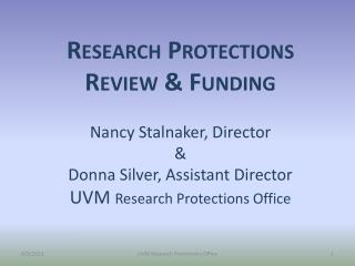 Research Protection  Review Committees
