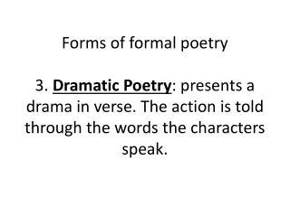 Organic poetry