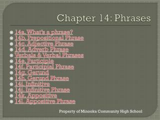 Chapter 14: Phrases