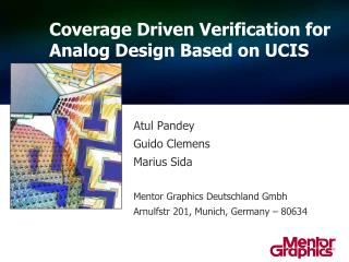 Coverage Driven Verification for  A nalog Design Based on UCIS