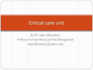 Critical  care  unit