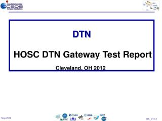 DTN HOSC DTN Gateway  Test Report