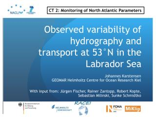 Observed variability of hydrography and transport at 53°N in the Labrador Sea